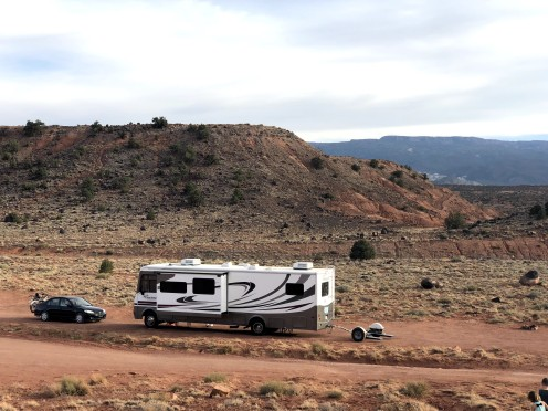 Boondocking site outside of Capitol Reef National Park